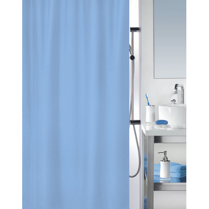 MSV douchegordijn blauw 120cm