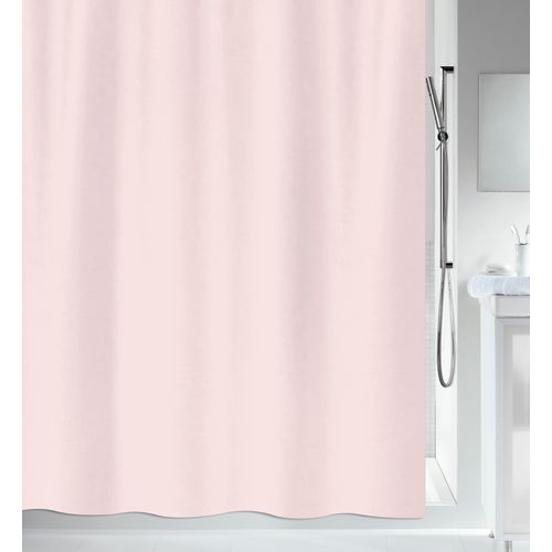MSV douchegordijn roze 180cm