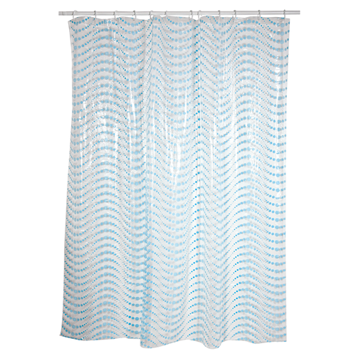 MSV douchegordijn Aglae blauw 180cm