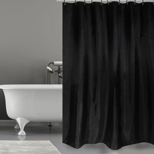 MSV douchegordijn zwart 180cm