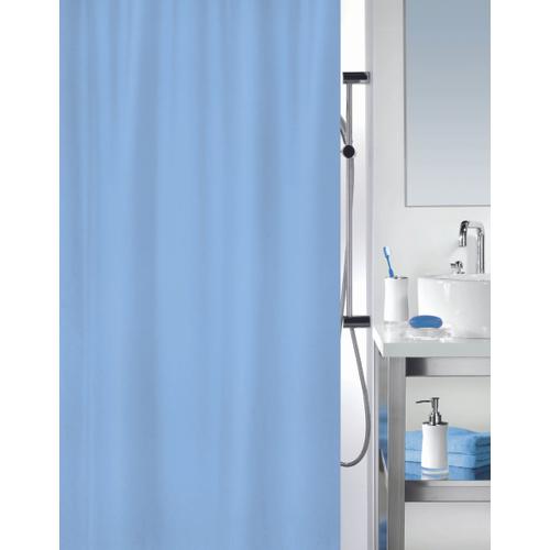 MSV douchegordijn lichtblauw 180cm