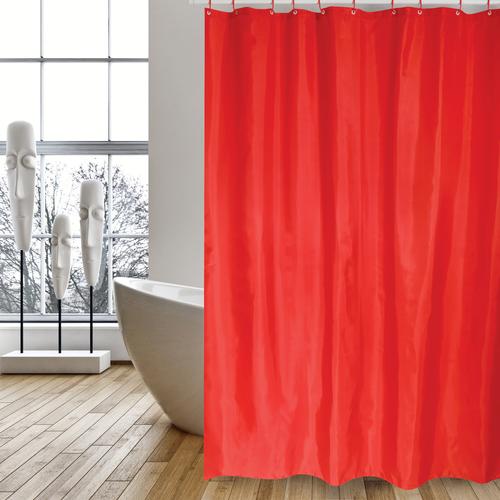 MSV douchegordijn rood 180cm