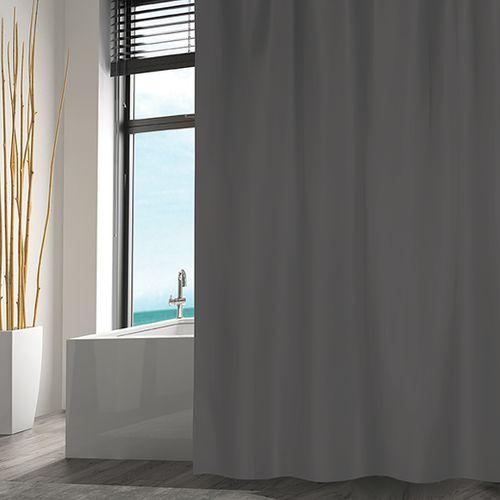 MSV douchegordijn grijs 180cm