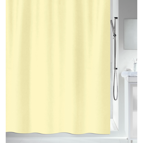 MSV douchegordijn geel 180cm