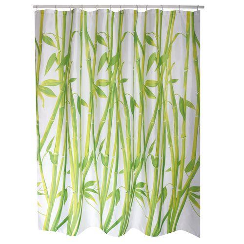 MSV douchegordijn Bamboo groen 180cm