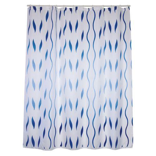 MSV douchegordijn Seventies blauw 180cm