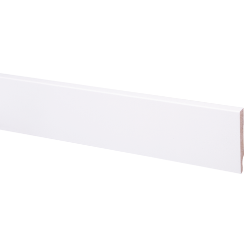 Muurplint MDF wit gegrond 79x12mm