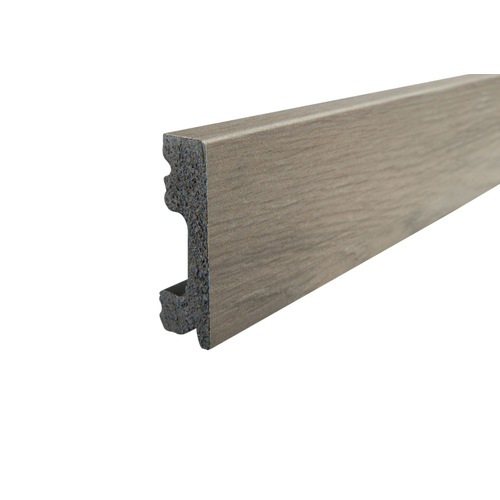 Kunststof plint CW702 donkergrijs eiken 15x50mm