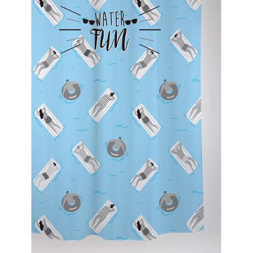 Allibert douchegordijn Swim polyester 180x200cm