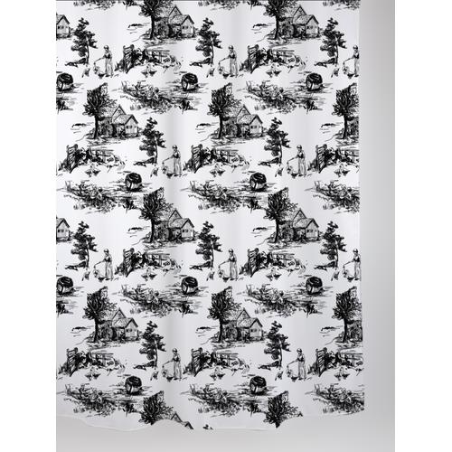 Allibert douchegordijn Retro polyester 180x200cm