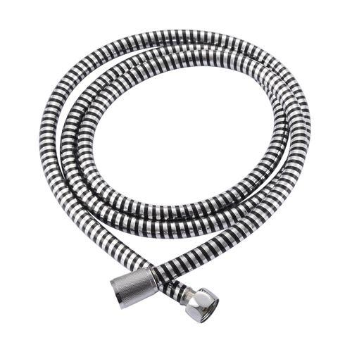 Flexible de douche AquaVive PVC chrome noir 200cm
