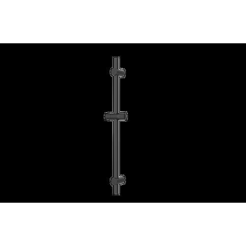 Barre de douche AquaVive noire mat 25mm
