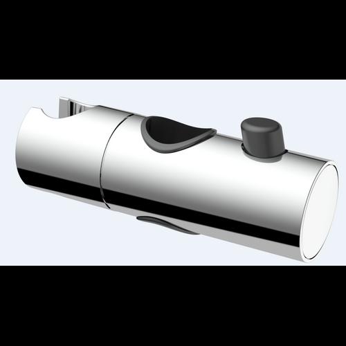 Curseur AquaVive chromé pour barre de douche 25mm