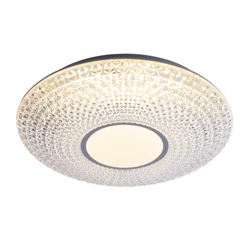 Brilliant plafondlamp LED Nunya chroom wit 24W
