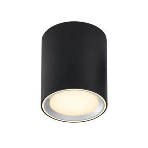 Nordlux plafondlamp LED Fallon zwart 12cm 8,5W