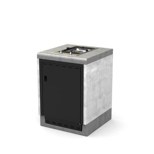 Tuozi barbecue tafel gas Otte Smeg 61 beton 61x63x85cm