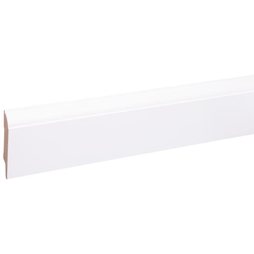 Baseline muurplint budget style wit 80x14mm