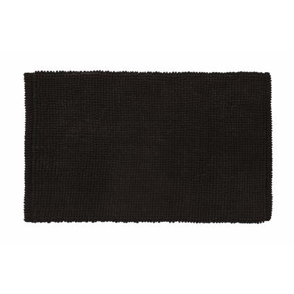 Tapis de bain Future Home Bali noir polycoton 50x80cm