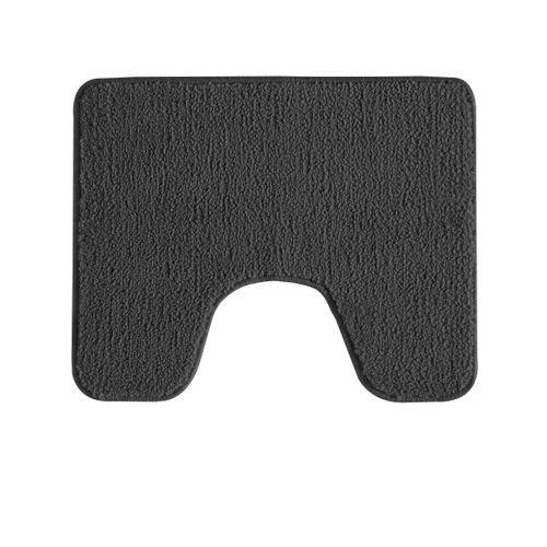 Tapis de toilette Future Home Polynésie brun chocolat polyester 50x50cm