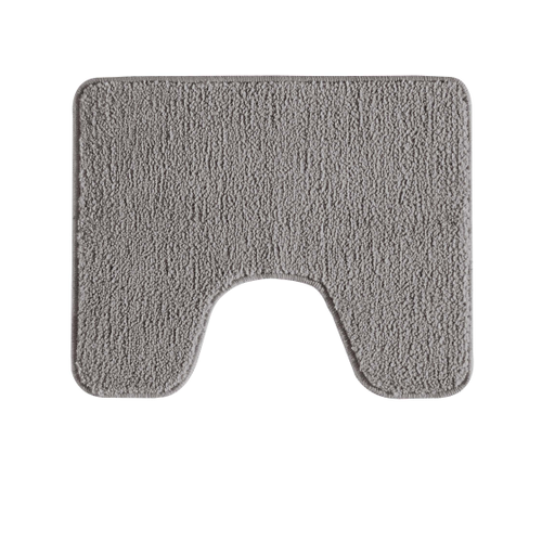 Tapis de toilette Future Home Polynésie gris polyester 50x50cm