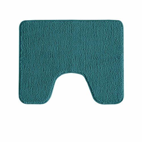 Tapis de toilette Future Home Polynésie bleu paon polyester 50x50cm