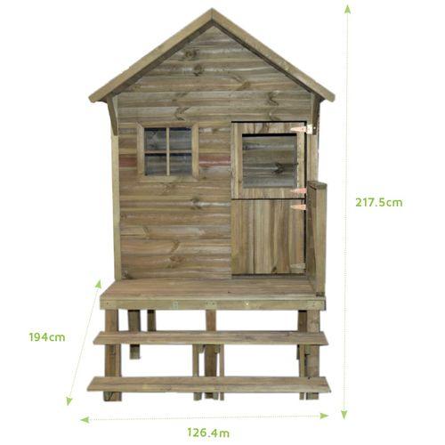 Trigano speelhuis Lenah hout 194x126,4x217cm