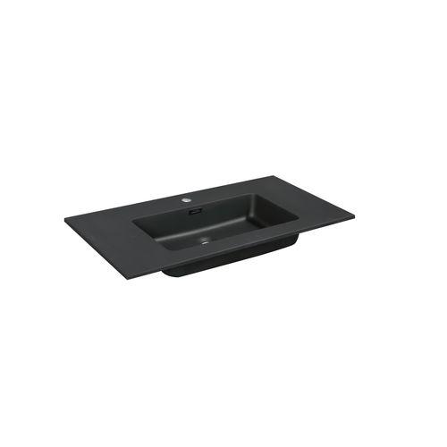 Aquazuro wastafel Napoli 90cm zwart