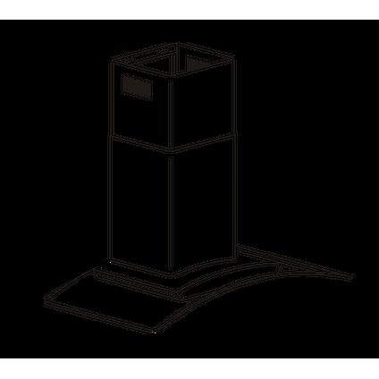 Electrum schouwafzuigkap CGH611LX RVS 60cm