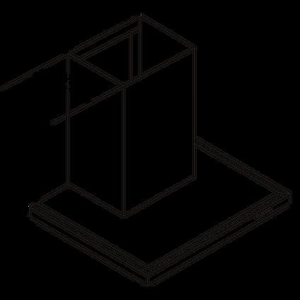Electrum schouwafzuigkap TSH912LX RVS 90cm
