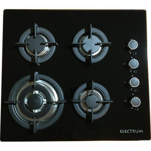 Electrum gasplaat 60cm zwart