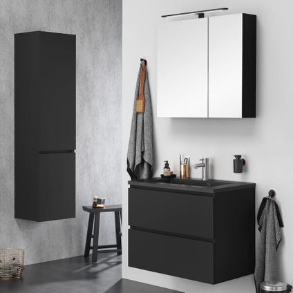 Armoire de toilette Tiger S-line noir mat 60cm