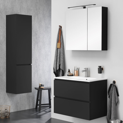 Armoire de toilette Tiger S-line noir mat 80cm