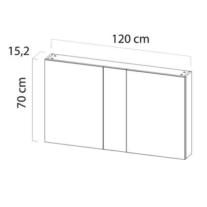 Armoire de toilette Tiger S-line noir mat 120cm
