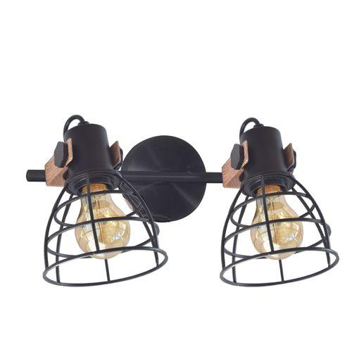 Seynave wandlamp Atlas zwart 2xE27