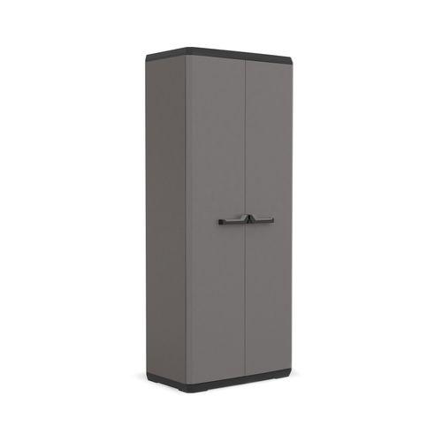 Armoire Keter Piu polypropylène gris 166x68x39cm