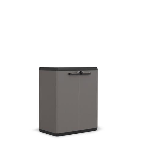 Armoire basse Keter Piu polypropylène gris 83 x 68 x 39 cm
