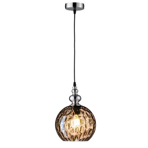 Fischer & Honsel plafondlamp Uller rond bruin E27