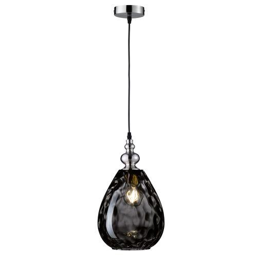 Fischer & Honsel plafondlamp Uller druppel zwart E27