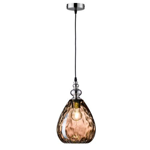 Fischer & Honsel plafondlamp Uller druppel bruin E27