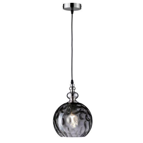 Fischer & Honsel plafondlamp Uller rond zwart E27
