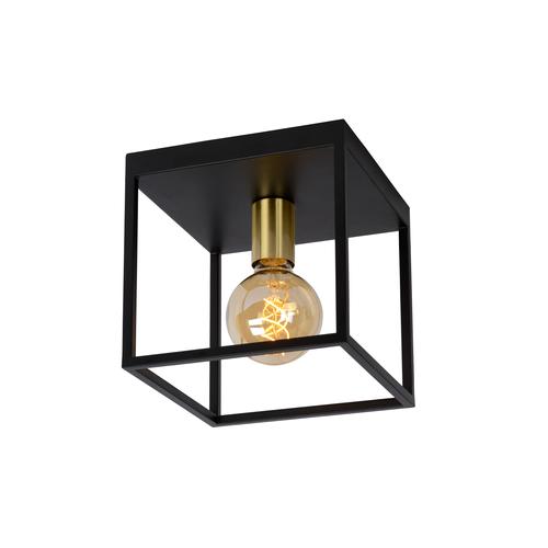 Lucide plafondlamp Ruben zwart-goud