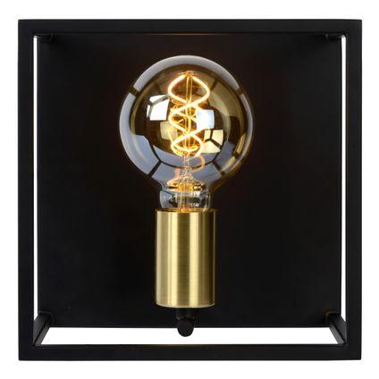 Lucide wandlamp Ruben zwart-goud