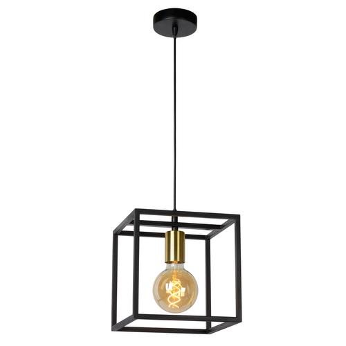 Lucide hanglamp Ruben 1xE27 zwart-goud