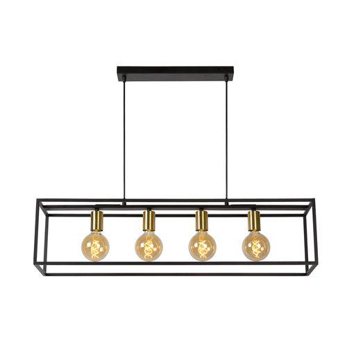 Lucide hanglamp Ruben 4x5W zwart-goud