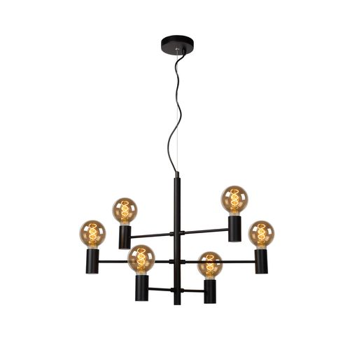 Suspension Lucide Leanne 6x5W noir