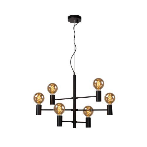 Lucide hanglamp Leanne 6X5W zwart