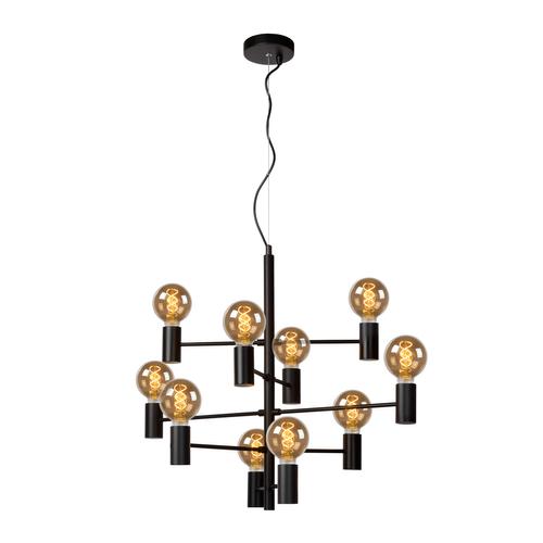 Lucide hanglamp Leanne 10XE27 zwart