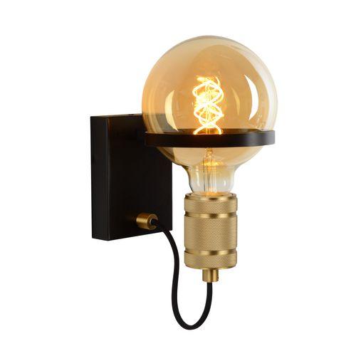 Lucide wandlamp Ottelien zwart E27