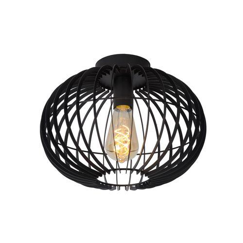 Lucide plafondlamp Reda zwart E27