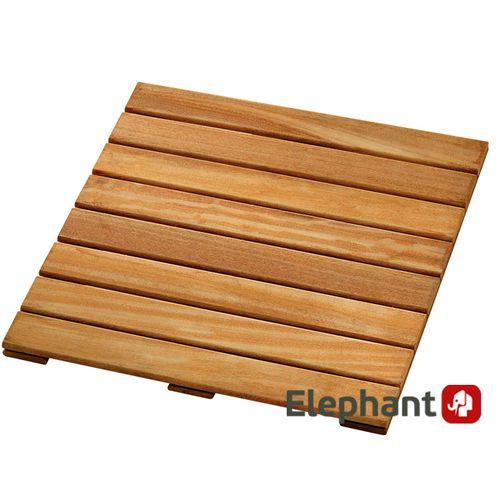 Dalle de terrasse bois dur Elephant FSC 50x50cm